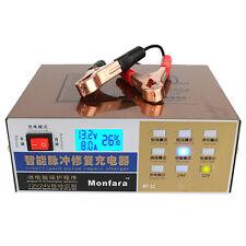 New 110V/220V Full Automatic Electric Car Battery Charger 12V/24V Output US Plug