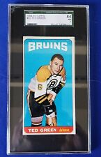 1964-65 Topps Hockey Tall Boys # 32, Ted Green. SGC graded: 84 ( NM ) 7