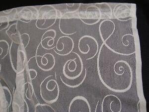 """NEW ONE PANEL Fancy Lace DOOR CURTAIN Panel Ivory FLEUR de LIS 58"""" x 42"""" lg"""