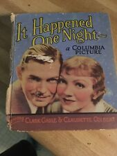 Clark Gable Claudette Colbert It Happened One Night Illustrated Movie Picture