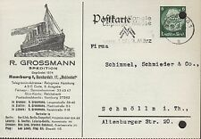 HAMBURG, Postkarte 1936, R. Grossmann Spedition
