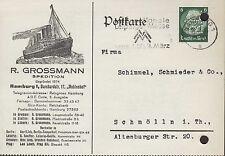 HAMBURG, Postkarte 1936, R. Grossmann Spedition
