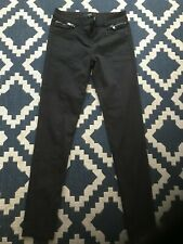 Next Ladies/Womens Black Trousers / Jeans Size 8 Regular
