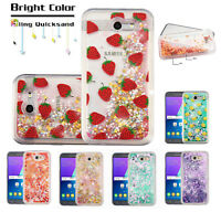Google Pixel 2 / XL Quicksand Hybrid Bling Glitter Rubber Protective Case Cover