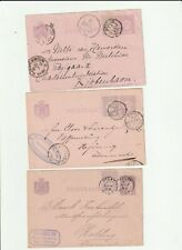 Netherlands Postal History: 7 small round cancels to European cities (1884-94)