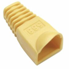 F1021 - Copriconnettore per Plug RJ45 6.2mm Giallo - 20 pezzi