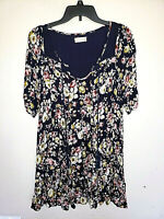 Womens Altard State Floral Coloful Shirt Top Short Sleeve Anthropologie Size M