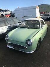NISSAN FIGARO, 1.0 TURBO 1991 REAR AXEL COMPLETE WITH DRUMS  BREAKING CAR