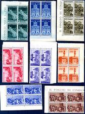 ITALIA 1946 - Avvento Repubblica  QUARTINA  ** LUSSO