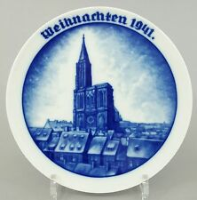 Rosenthal Weihnachtsteller 1941, 'Straßburger Münster' Entwurf: Walter Mutze