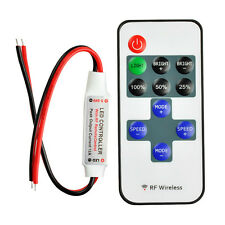 Mini RF Wireless Remote Controller For 3528 5050 LED Single Color Strip Lights