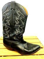 Nocona Boots Men's Sz 10.5 Black Leather Cowboy Western Boots