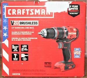 """Craftsman CMCD721B 20V Brushless 1/2"""" Hammer Drill - TOOL ONLY"""