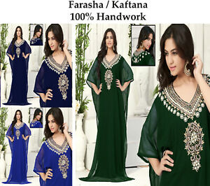 Dubai Style Women Kaftan Caftan Farasha Abaya Maxi Dress Kimono Beach Cover Up O