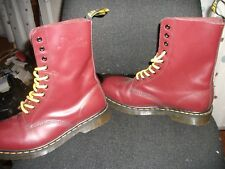 Dr Marten boots cherry red size 8   10 hole.  NEW