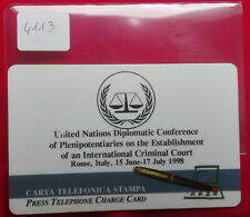 SCHEDE TELEFONICHE PROTOTIPI e  PROVE e USI SPECIALI ONU CRIMINAL CO  USATA 4113
