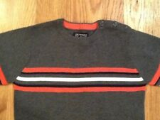 The Children's Place Toddler Boys Dark Gray w/Orange Stripe Sweater SZ 4 XS NWOT