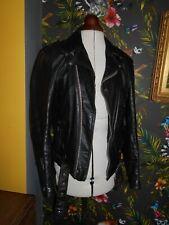 """Vintage Baja de California 1970s Pesado De Cuero Biker Jacket 38"""" pecho"""