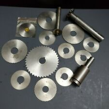 16pc HSS Milling Cutters & Arbors DoAll Thurston Side Mill Cutter Saw Machinist