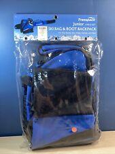 Transpack Alpine JUNIOR 2 pc set- Ski and boot bag combo Black & Blue