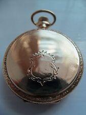 Reloj de bolsillo Elgin/colgante (14k Solid Gold Hunter caso) 1906
