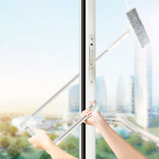 High Window Scrubber Cleaning Brush Extendable Washer 180 Rotatable Microfiber
