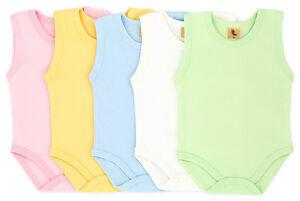 NEU Größer 50 56 62 68 74 80 86 92 98 104 Baby Set Body weiß ärmellos 5-tl
