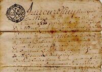 1726 Contrat de mariage Sousmoulins Charente-Maritime DURAND MARCADIER acte
