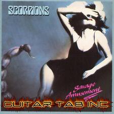 Scorpions Guitar Tab SAVAGE AMUSEMENT Lessons on Disc