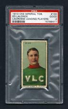 PSA 2 1910 C59 LaCROSSE CARD #100 ED LaLONDE