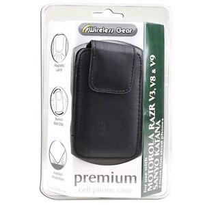 Wireless Gear 4HL898 Premium Cell Phone Case For Slim Phones (Black) Brand New