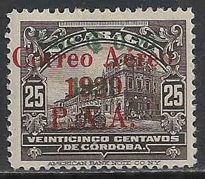 Nicaragua 1931 YV Airmail 9a Ovpt ERROR signed  MLH  VF  SCARCE