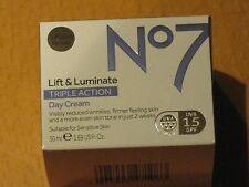 No7 LIFT & LUMINATE TRIPLE ACTION DAY CREAM 50ml NEW/BOXED RRP £25.00