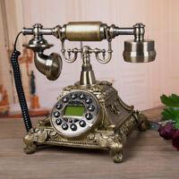 European Style Vintage Antique Telephone Rotary Dial Desk Phone Home Decor Pop.