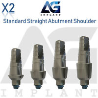 2 Standard Straight Abutment With Shoulder For Dental Implant Internal Hex