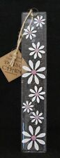 Designer Fused Glass Wall Hanging Daisy White and Baby Pink 25cm