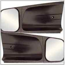 10200 CIPA 2 Black Plastic Custom Towing Mirrors fits GM C/K Pickup Tahoe