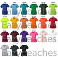 Womens SPORT TEK, Ladies Dry Fit T-shirt Yoga Workout Running S-2XL 3X 4X LST350