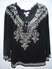 New Beautiful Soutache Decorated Blouse by Once Again Plus 2X
