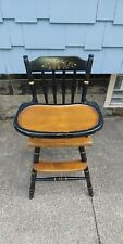 VINTAGE HITCHCOCK STENCILED HIGHCHAIR. RARE