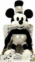 "Disney Mickey Mouse 90th Steamboat Willy 10"" Super Soft Plush Material Stuff Toy"