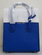 Michael Kors Studio Mercer Medium Electric Blue Pebbled Leather Messenger Bag