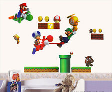 Standard Size Super Mario Bro Toy Removable Nursery Wall Stickers Decal Bedroom