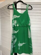 Anthropologie Silk Green Batik Whimsical Sea Creature Shrimp Dress Rare! Nwt 4