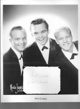 Phillip Crosby Autograph Son Bing A Christmas Perry Como's Kraft Music Hall