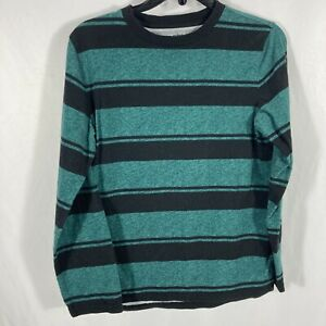 Urban Pipeline Long Sleeve Awesomely Soft Ultimate Tee Green Stripe Boys Size XL