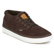 Elemento PRESTON UK 8 para Hombre Marrón Chocolate De Piel Forrada De Gamuza Calzado para Skate Zapatillas