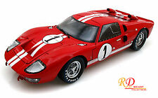 1966 FORD GT-40 MK II #1 RED 1:18 DIECAST MODEL CAR SHELBY COLLECTIBLES SC407