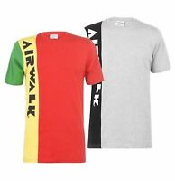 Mens Airwalk Short Sleeves Side Logo Crew Stylish T Shirt Sizes from S to XXL