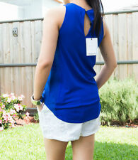 Hand-wash Only Sleeveless 100% Silk Tops for Women